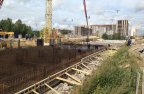 Армирование и бетонирование фундаментной плиты (корпус 1, 2 очередь)