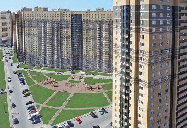 Район Девяткино в СПб активно застраивается новыми домами