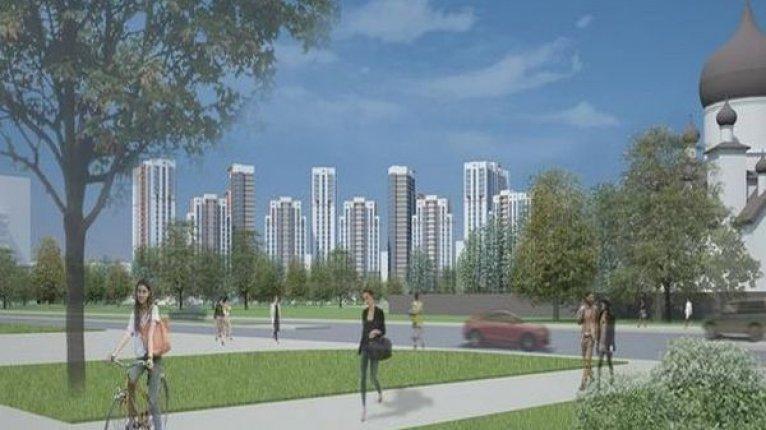«Вива» (VIVA): Вид из парка на комплекс