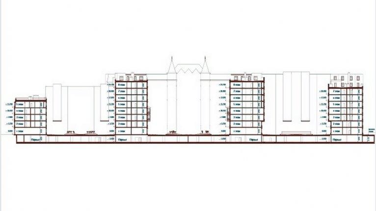 «Русский дом»: Разрез здания