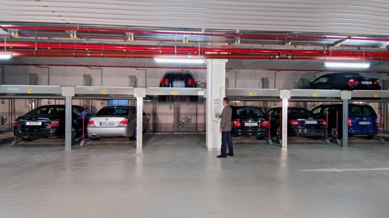 «Барская усадьба»: Отапливаемый пятиуровневый паркинг на территории ЖК