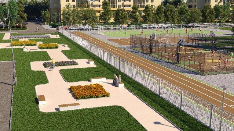 Green City («Грин сити»): Сквер c площадкой для выгула собак