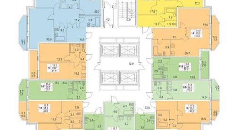 «Три апельсина»: Типовой этаж