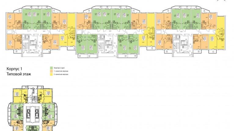 «На Заречной»: Типовые планы этажей