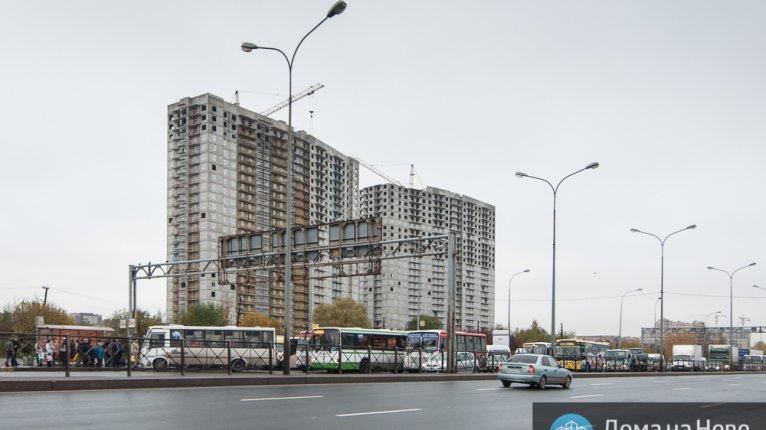 «Квартет»: Вид на комплекс от метро Купчино Дата съёмки: 14.10.2014