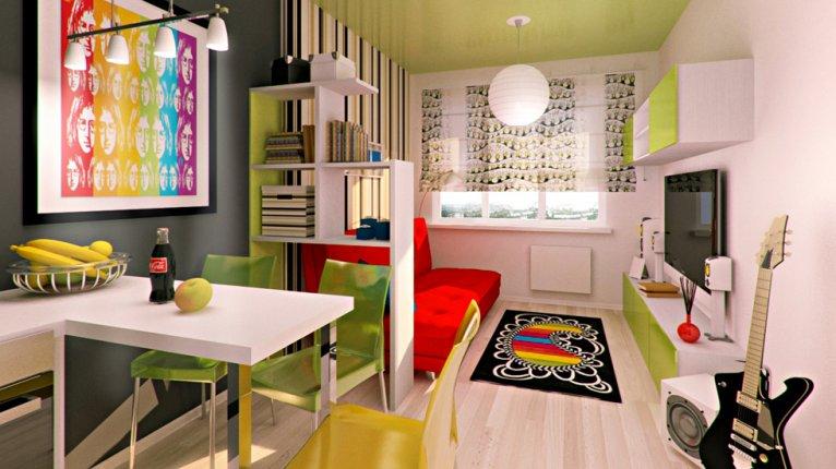 «Силы природы»: Пример обустройства квартиры-студии