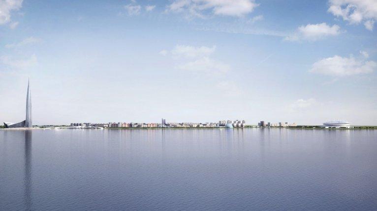 «Морские башни»: Вид на берег залива, где будет возведен  жилой комплекс «Морские башни»